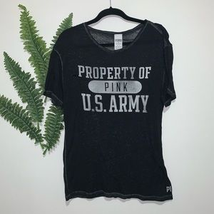 "PINK ""Property of US Army"" Top Small"